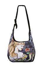 Disney Beauty & The Beast Belle Enchanted Rose Sketch Hobo Bag Tote HTF NWT