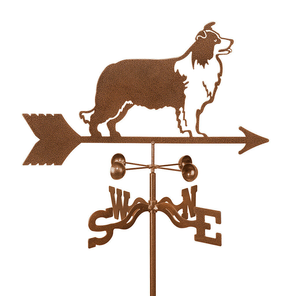 Dog - Border Collie Weathervane - Vane - Sheep Dog Sheepdog - w/ Choice of Mount