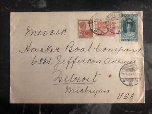 1915 Soerabaja Niederlande Indies Gewerblicher zu Detroit mi USA