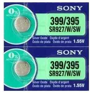 2-Piles-Montre-1-55V-SONY-395-399-Argent-SR927SW-SR57-SR927-V395-V399-AG7-LR57