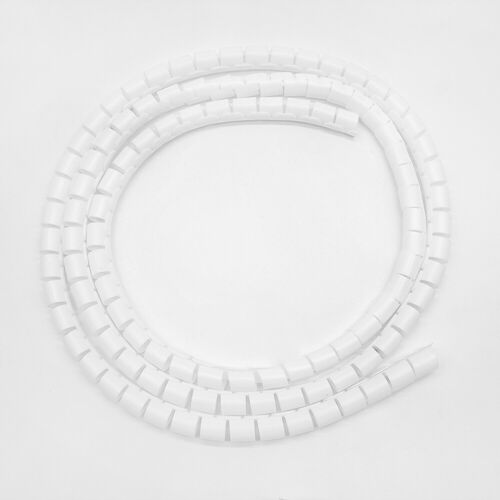 10//25mm 2M Cable Hide Wrap Tube Organizers/&Management Wire Spiral Flexible Cord