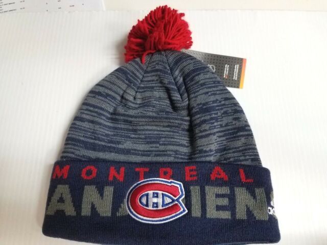 e6f86b9d4 Montreal Canadiens Adidas Knit Hat 2017 NHL Authentic On Ice Beanie  Stocking Cap
