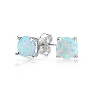 Sterling-Silver-1-10-Carat-Genuine-Ethiopian-Opal-6MM-Stud-Earrings-49