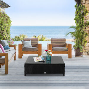Patio-Wicker-Side-Tea-Coffee-Table-w-Glass-Top-Rectangle-Outdoor-Furniture-Sofa