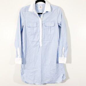 Gap-Womens-Size-XS-Blue-Chambray-Long-Sleeved-Tunic-Shirt-Dress-100-Cotton