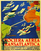 Rome Italy Rio De Janeiro Brazil From Sahara Travel 16x20 Vintage Poster Free Sh