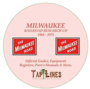 MILWAUKEE-ROAD-RAILROAD-OFFICIAL-GUIDES-EQUIPMENT-REGISTERS-amp-RESEARCH-ON-DVD