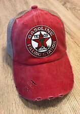 TEXACO Logo Cap Hat Vintage Patch Style Fill Station Gas Weathered Distress Oil