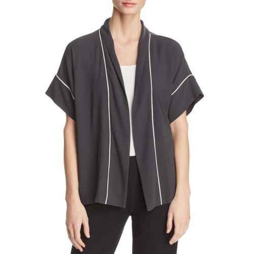 Eileen Fisher femme soie Open Front Office Wear Kimono Top BHFO 2556