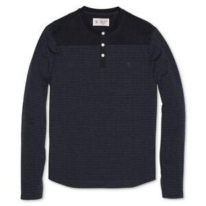 ORIGINAL-PENGUIN-NEW-Men-039-s-Striped-Henley-Shirt-TEDO