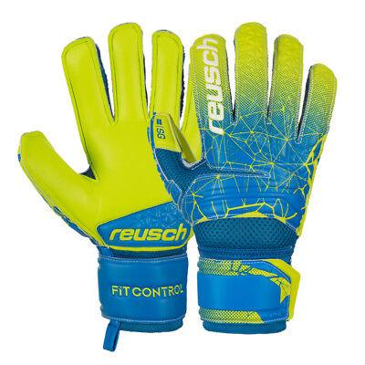 Bello Guanti Portiere Reusch Fit Control Sg Extra Finger Support Stecche Szczęsny Blue