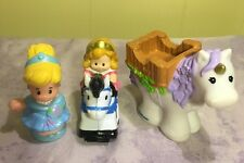 Little People Princess Lot Cinderella Royal Horse Unicorn Princess Castle