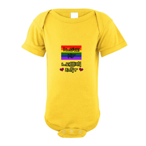 I Love My Lesbian Aunt With Gay Flag Infant Toddler Baby Bodysuit One Piece