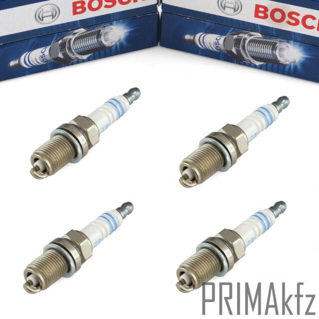 4x Bosch Candele +8 FR7DC + Per Opel Astra G H Calibra Combinato Corsa Kadett