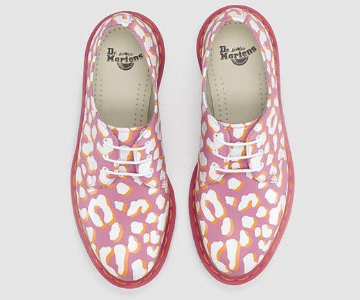 Dr. Martens Women`s Women`s Women`s 1461 Leopard Print Candy Pink White US 8 EU 39 UK 6 Ret. 130 3e0512