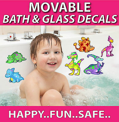 Bath Stickers TOTALLY MOVABLE Make Bath Time Fun-Minnie Mouse Alphabet and more