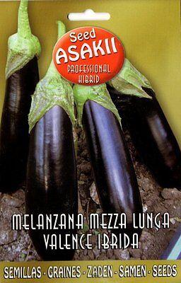 "Semi/Seeds MELANZANA "" Mezza Lunga Valence Ibrida """
