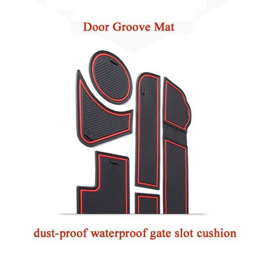 For Peugeot 3008 Car  Rubber Mat Non-slip Mat Interior Cup Pad Door Groove Mat