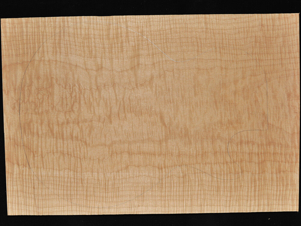Curly Maple Bookmatched Tonewood One Piece Guitar Top - CM426