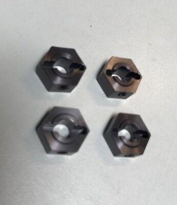 4Pcs//Set 1//10 Wheel Hex Drive 12x7mm w// Pins Screws for Axial SCX10 HSP Red