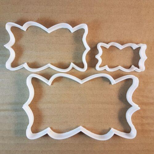 Plaque Cadre Splat Forme Cookie Cutter Pâte Biscuit Pâtisserie Fondant Sharp