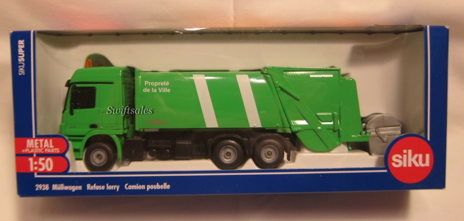 Siku 2938 mercedes camion poubelle-French Livery-Navires de USA-NEUF