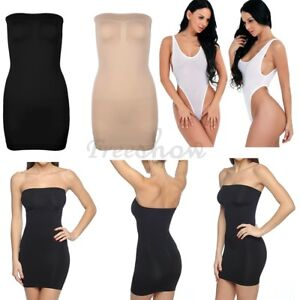 393c3fce64d26 Image is loading Womens-Shapewear-Seamless-Strapless-Slimming-Mini-Dress -Party-