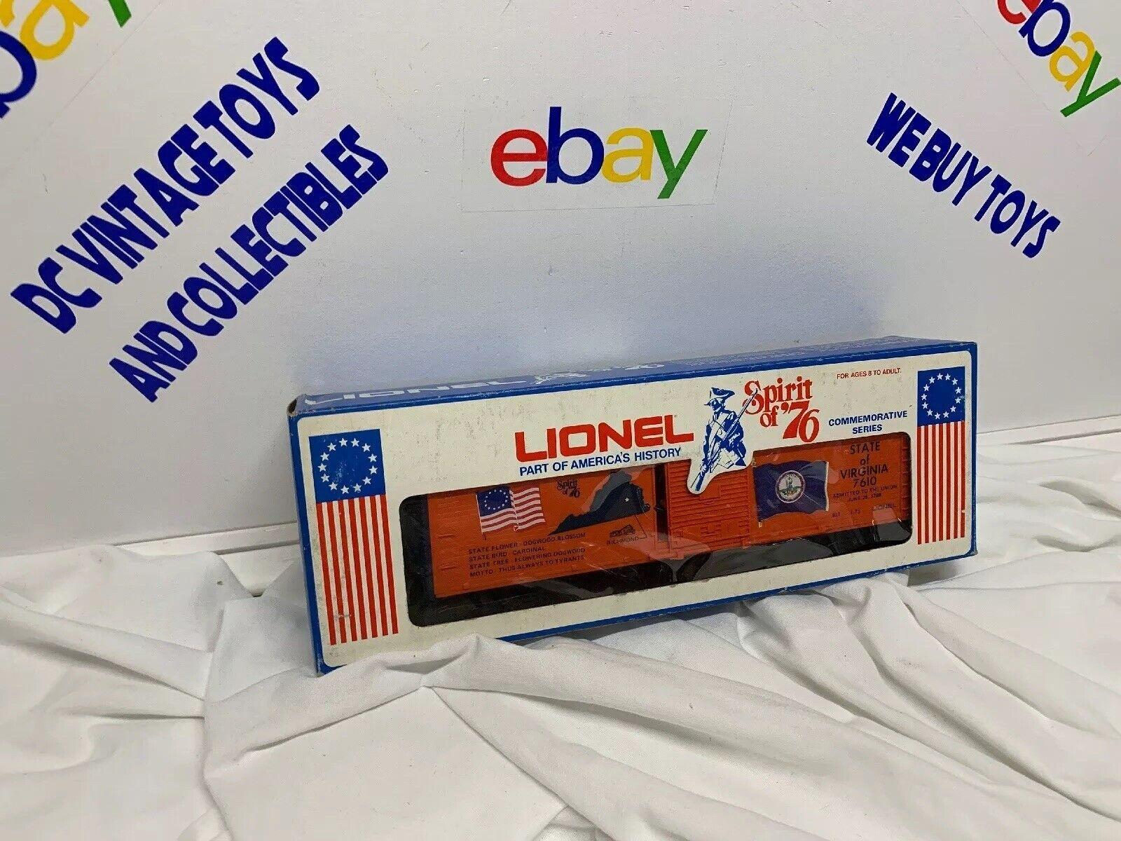 + Lionel O Scale  Spirit of '76  Virginia Box Car  6-7610 NIB