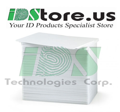 100 Blank PVC Cards Evolis Badgy200 CBGR0100C YMCKO Color Ribbon 100 prints