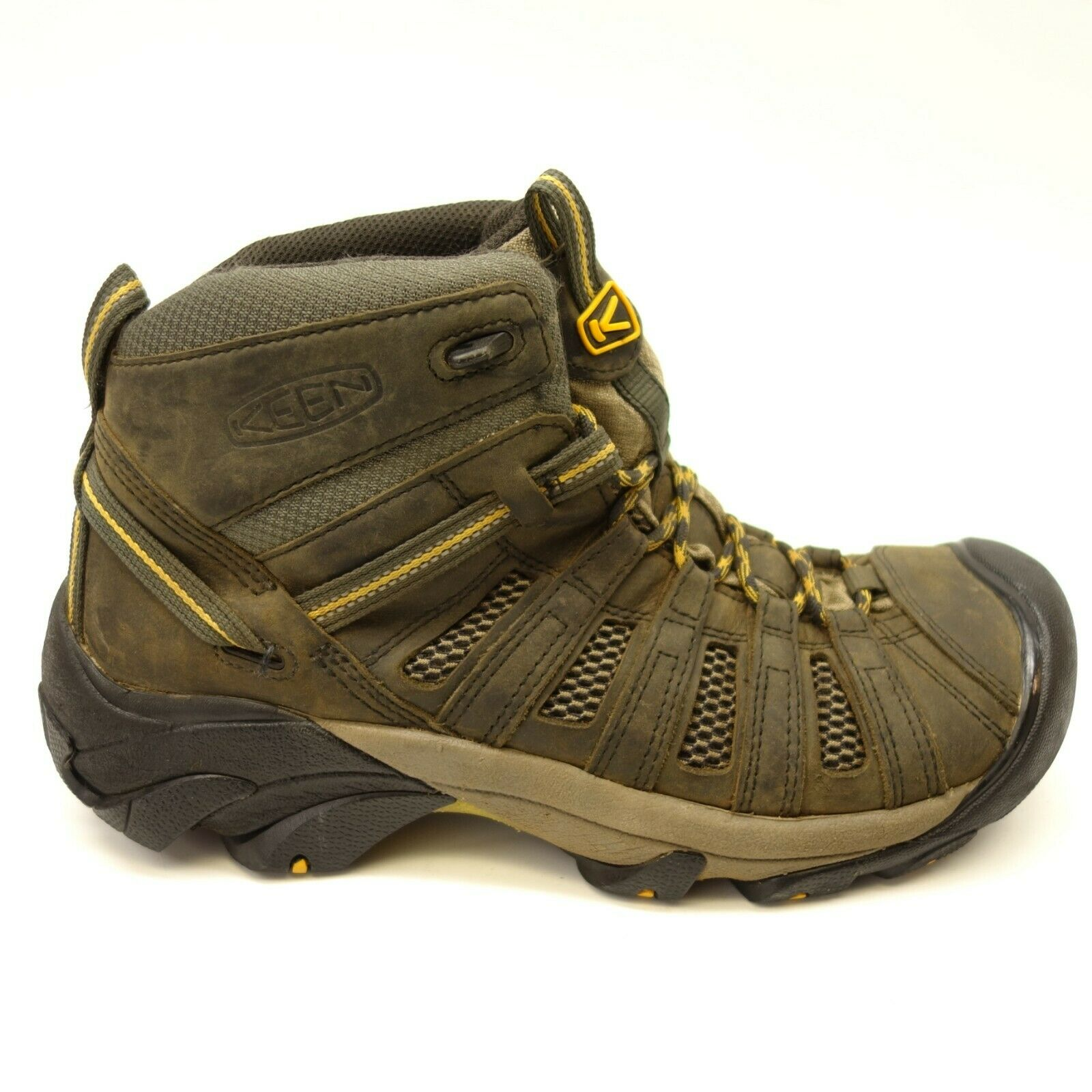 Keen Mens Voyageur Olive Mid Leather Athletic Support Hiking Trail shoes Sz 10.5