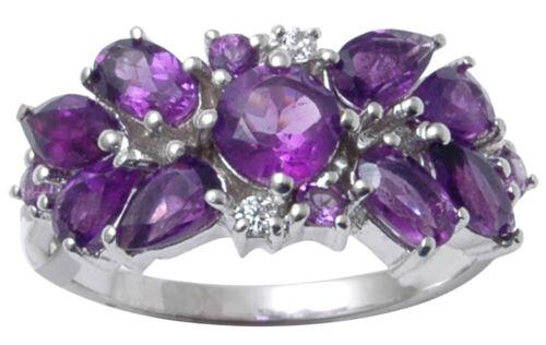 Damenmode in Amethyst 925 Sterling Silber Ring Finger Ring Schmuck-SJR267