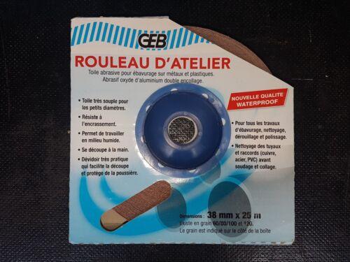 Rouleau Abrasif d/'atelier GEB  P80   38mm X 25m