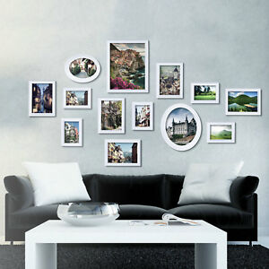 White Multi Picture Photo Frame 13 Pieces Set Wall Frames Set