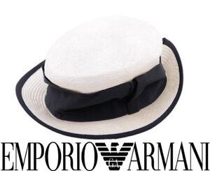 4ff4ae83723 EMPORIO ARMANI HTADE23 O Womens Fedora Hats Ladies Classic Summer ...