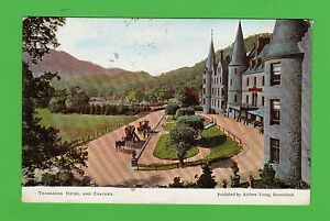 Vintage-postcard-Trossachs-Hotel-and-Coaches-Perthshire-Dated-1904
