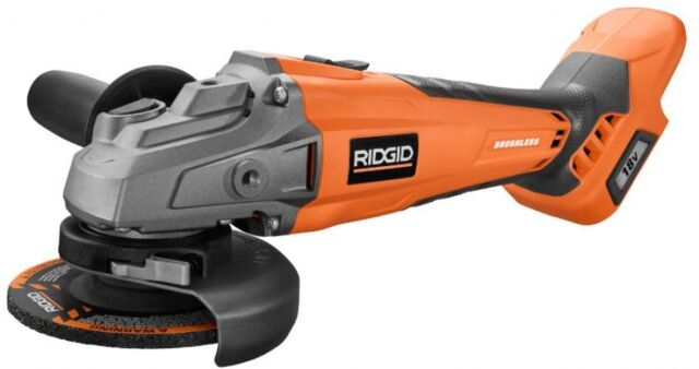RIDGID 18-Volt 4-1/2 inch Lithium-Ion Cordless Brushless Angle Grinder Tool New