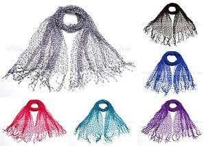 64-034-Wide-Confetti-Spring-Summer-Scarf-Knit-Plain-Solid-Color-Fringe-Fashion-Cool
