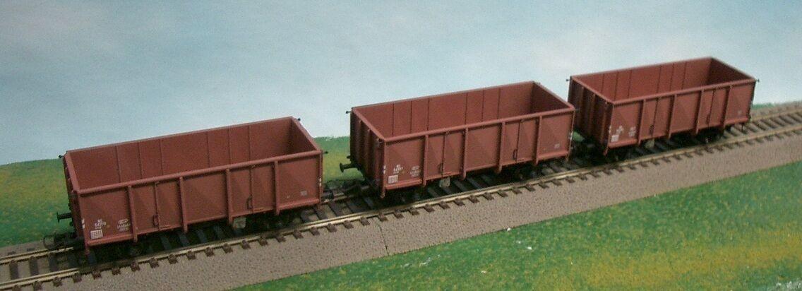 Artitec 20.231.12 Set 3 NS kolenwagen GTU Open güterwag Brown Ep3 RIV NEW + OVP