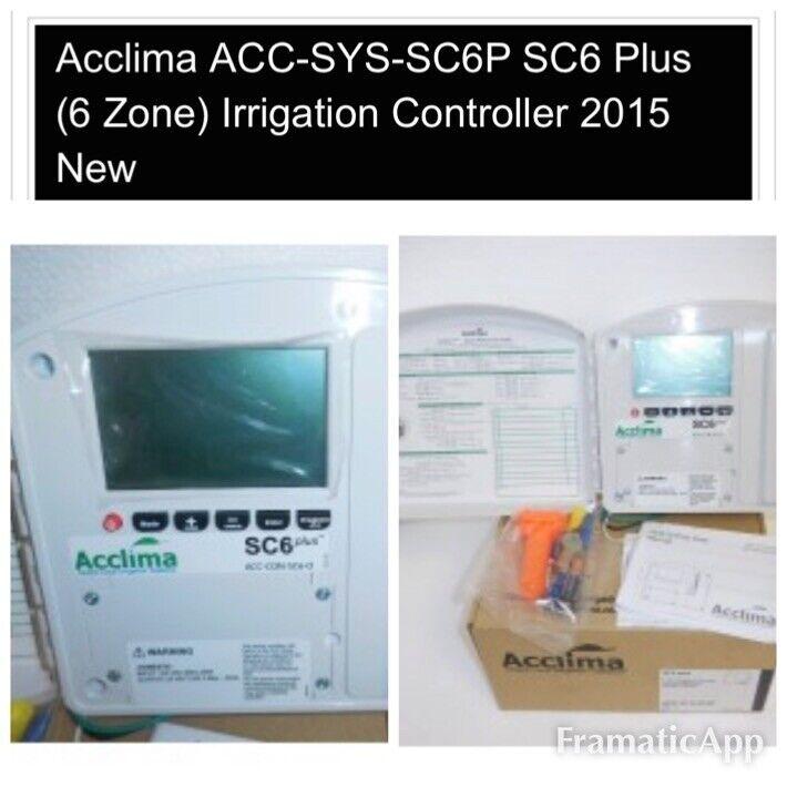Acclima SC6 Plus 6 Zone Irrigation Controller Sprinkler Indoor Outdoor 1 Sensor