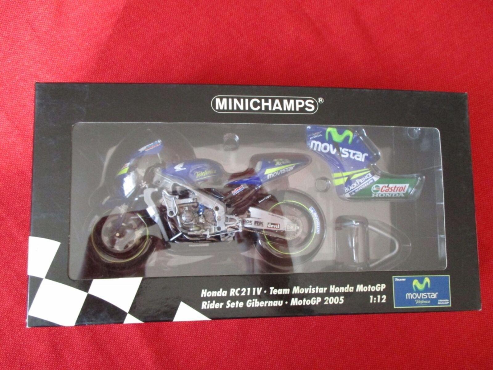 Minichamps ® 122 051015 1 12 honda rc211v sete gibernau motogp 2005 nuevo embalaje original