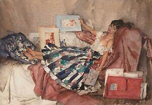 William-Russell-Flint-THE-RED-PORTFOLIO-Figurative-Art-Unsigned-Released-2009
