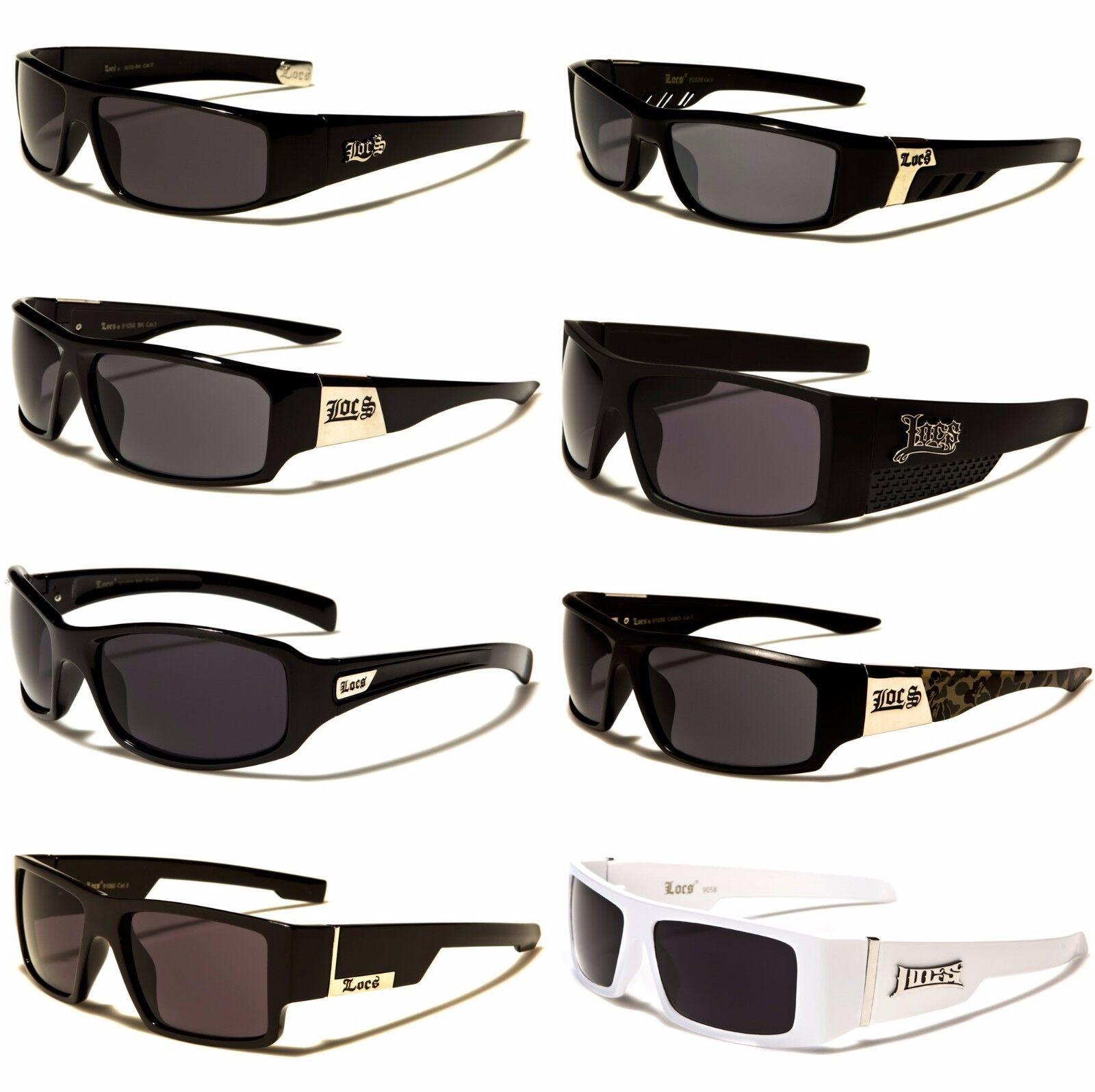 e32627ef36c NEW Black White Locs Rectangle Dark Lenses Men s Gangster Sunglasses ...