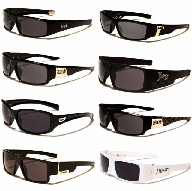 Mens LOCs Black Hardcore Classic Sunglasses Designer Shades UV400 Lenses 91018