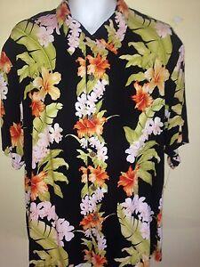 VINTAGE-Hawaiian-1950-1960-KILAUEA-LARGE-Shirt-FLORAL-RARE