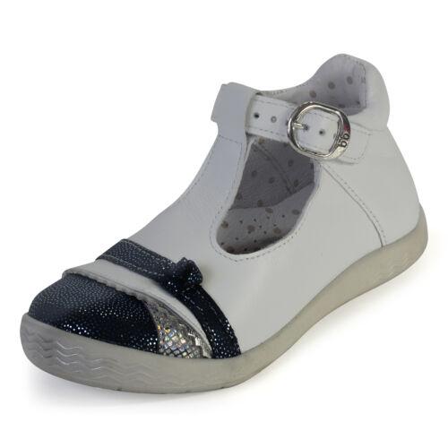 Babybotte Girls Shifon White /& Blue Leather Buckle Shoes 1B53213E//348