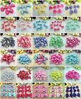 10/50/100 Pcs Lace Satin Ribbon Organza BOW Appliques Craft Wedding Decoration