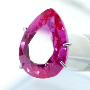 4.95 Ct Natural Pink Sapphire Pear Cut Certified Gemstone Best Quality AAA+