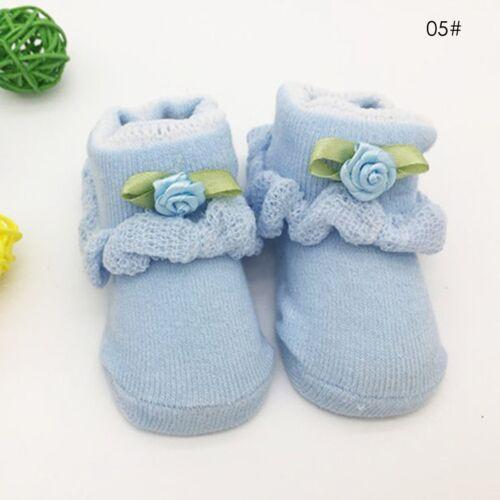 Cute Baby Boy Girl Infant Toddler Soft Sole Crib Shoes Newborn Shoes Socks 0-6M