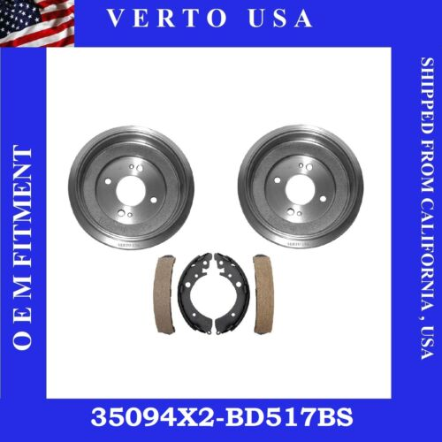 Brake Drums /& Shoes Complete Set  For Honda Civic 2001-2005 35094X2-BS517B