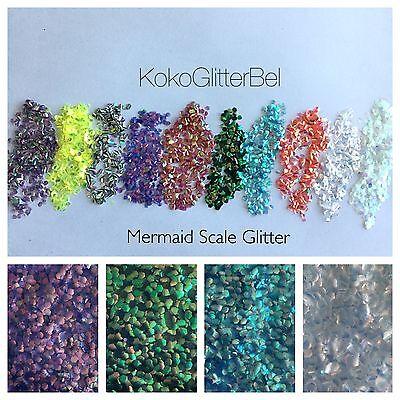 Mermaid Scales Holographic Iridescent Chunky Glitter Mix   1 TSP    Nail Art